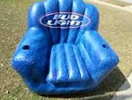 bud light blue inflatable chair with cooler bud light chair