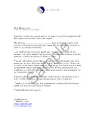Awesome Collection Of New Real Estate Agent Introduction Letter