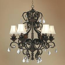 franklin iron works chandelier ribbon amber scroll 32 wide 9 light scavo glass pendant
