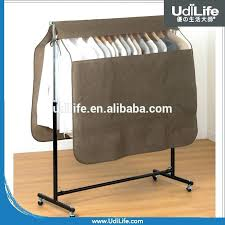 garment rack with cover bedroom clothes rail regarding hanging for laundry room diy