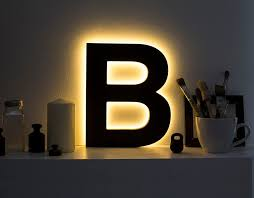 lighting letters. wood light letter led b decorative eco lighting letters