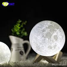 2018 fumat moon lamp 3d print magical moon night light color changing moonlight touch sensing led moon lights gift luna night lamps from soon