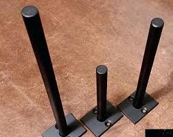 steel 2 long 1 post floating shelf bracket diy brackets