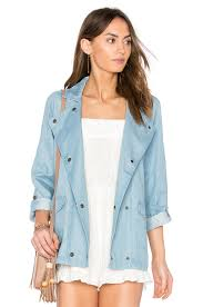 bb dakota raines jacket medium wash chambray women bb dakota open back sweater officially