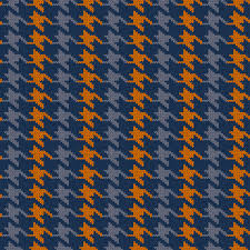 Houndstooth Knitting Pattern Chart Seamless Knitted Woolen Pattern Houndstooth Vintage Blue