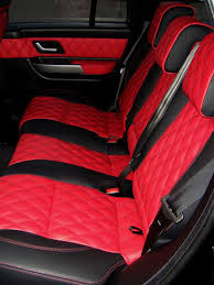 187 best Custom interiors images on Pinterest | Modified cars, Car ... & Range rover sport red/black quilted leather interior Adamdwight.com