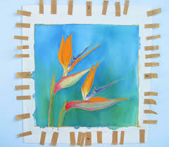 i sometimes use this method for small works it works best for pieces of silk under about 10in or 25cm