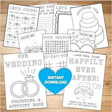 kids wedding colouring activity book instant pdf reception game coloring pages wordsearch printable colouring activity 2668209 weddbook