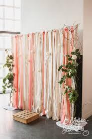 wedding photobooth backdrop ideas ribbon fabric diy
