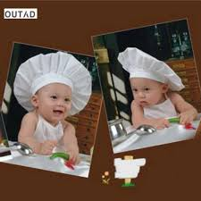 OUTAD Funny Newborn Infant <b>Chef</b> White <b>Cook</b> Costume Baby ...