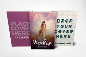 5 x 8 paperback book trio mockup