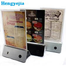Menu Display Stands Restaurant Impressive Plastic Restaurant Acrylic Table Menu Display Holder Led Bar Display