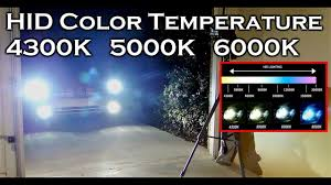 4200k Color Chart Hid Xenon Color Temperature 4300k 5000k 6000k