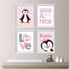 baby girl nursery art prints girl nursery decor girl nursery art penguin nursery art penguin art penguin decor pink gray ns 242  on penguin wall art for nursery with 260 best penguin themed nursery hoping wishing images on
