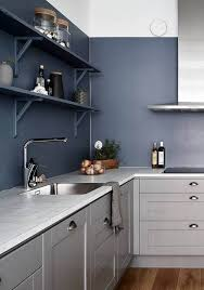 25 blue and grey kitchen designs that