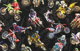 BE06 Motorcycle Dirt Bike Racing Motocross Sport Harley Quilting ... & BE06 Motorcycle Dirt Bike Racing Motocross Sport Harley Quilting Cotton  Fabric Adamdwight.com