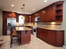 Small Picture Amber Cherry Mitred Raised Kitchen Cabinets With A Brown Glaze