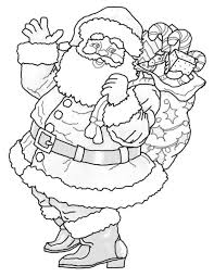 Small Picture Santa Coloring Pages For Christmas Printable Christmas Coloring