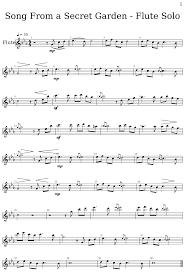 song from a secret garden flute solo