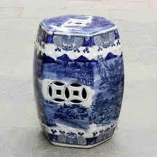 blue and white ceramic antique drum porcelain garden stool glazed ceramic ceramic antique chinese hand ceramic