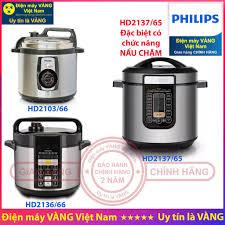 Nồi áp suất điện Philips HD2103 HD2136 HD2137 - Hàng chính hãng (Bảo hành 2  năm toàn quốc) chính hãng 1,550,000đ