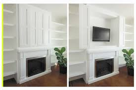 flat screen television in a built in cabinet storage solution