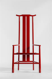 jing living ming series high back wooden chair red