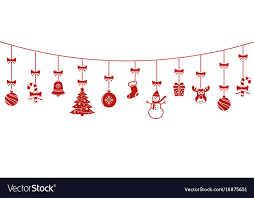 hanging christmas ornaments vector. Fine Vector And Hanging Christmas Ornaments Vector S