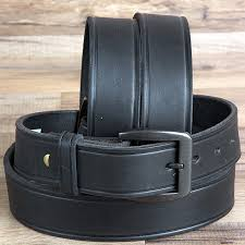men western basic leather belt brass tone removable zoom