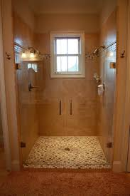 Two Headed Shower Designs Master Shower Dual Heads Add A Bench Small Bathroom