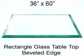 beveled glass table top rectangle glass table top inch 1 4 thick bevel import 48 beveled beveled glass table top