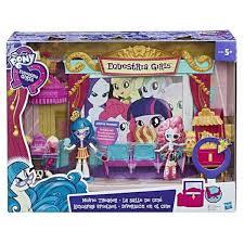 <b>MLP</b>. <b>Equestria</b> Girls <b>Игровой набор</b> мини-кукол Кинотеатр (tn ...