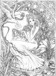 Small Picture Fairy Coloring Pages Gallery For Website Fantasy Coloring Pages