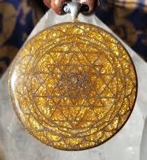 fine cast sri yantra pendant with zircon