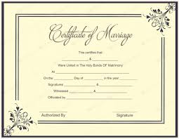 Wedding Certificate Template Fascinating Marriage Certificate Template Write Your Own Certificate