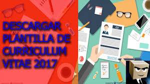 Formatos De Curriculum Vitae En Word Gratis Descargar Plantilla Modelo De Curriculum Vitae 2017 Gratis En Formato Word