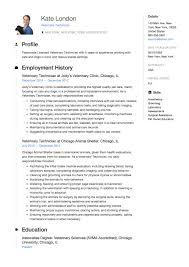 Veterinary Resumes Veterinary Technician Resume Sample Template Example Cv