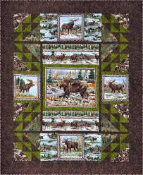 Moose Quilt Panels Patterns | Quilts with cross stitch | Pinterest ... & The Rushin' Tailor : Into the North Quilt Kit QuiltAlaska] - cotton fabrics  are used in this easy to make quilt. Panel sections are used throughout to  make. Adamdwight.com