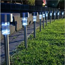 outdoor garden lighting stainless steel solar lawn led light outdoor waterproof solar lamp outdoor garden fairy