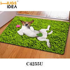 green y dog funny design bath mats thin kitchen carpets yellow purple bathroom carpet rugats animal floor mat