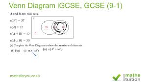 Venn Diagram Gcse Worksheet Venn Diagram Igcse Gcse 9 1