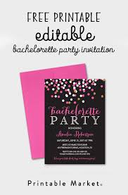 Free Dinner Invitation Templates Printable Beauteous Free Editable Bachelorette Party Invitation Gray Hot Pink Gold