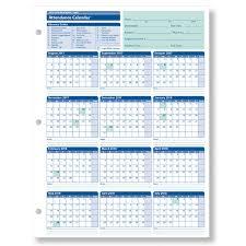 Free Printable 2019 Employee Attendance Calendar Magdalene