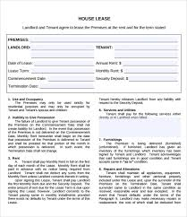 Sample Home Rental Agreement property lease agreement template free pretty lease doent template ...