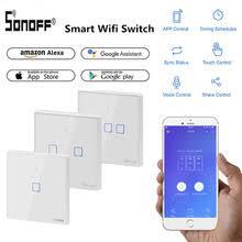 <b>SONOFF</b> T2/T3 EU/UK <b>TX</b> 1/2/3 Gang Smart Wifi Touch Wall Light ...