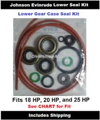 Details About Evinrude Lower Unit Gear Case Seal Kit Fits 20 Hp 18 2684 See Chart