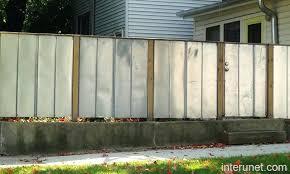 steel fence designs sheet metal fence designs modern wood metal fence designs