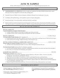 Dental Assistant Resume Objective Entry Level Dental Assistant Resume Objective Free Templates For 48