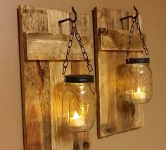 decor outdoor wall decorating ideas incredible outdoor wall lighting ideas with diy hanging mason jar candle