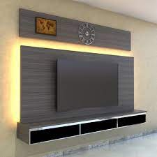 wall mounted wooden led tv panel for